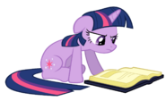 Twilight Sparkle reading vector