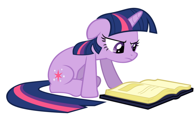 File:Twilight Sparkle reading vector.png