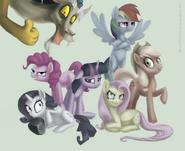 My little pony discord is magic by discordthetrollest-d4hs9u8