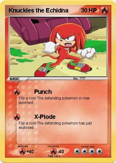Knuckles card!