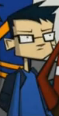 Nameless Boy with Glasses and Blue Shirt