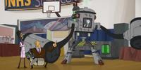 Cat-Poop-Powered Robot