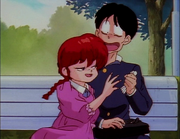 Ranma flirts with Gosunkugi - Gosunkugi's Paper Dolls