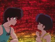 Ranma and Akane stare - Kiss of Love