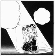 Azusa laughs at Akane and Ranma