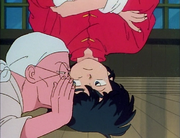 Genma whispers to Ranma - Another Suitor
