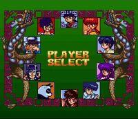 Hard Battle chara select screen