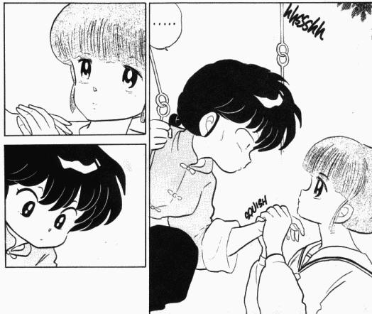 Image - Tsubasa Holds Ranma's Hand - Manga.png
