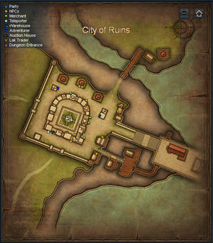 Sepia Map - City of Ruins