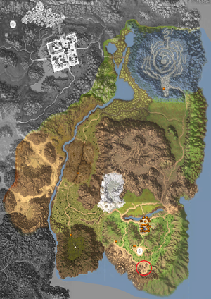 Map - Horizon Area - Cliff of Dune