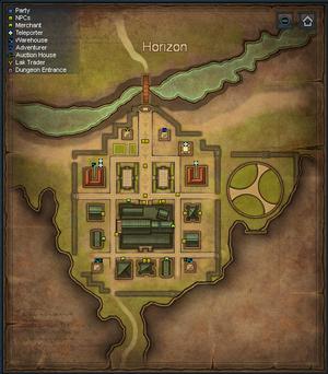 Sepia Map - Horizon