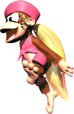 File:Dixie Jumping Artwork - Donkey Kong Country 2.png