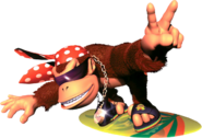 Funky Kong Artwork - Donkey Kong Country 2
