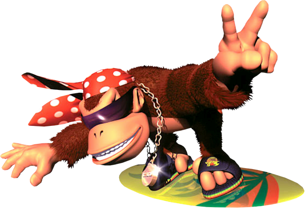 File:Funky Kong Artwork - Donkey Kong Country 2.png