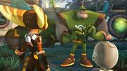 Qwark, Ratchet and Clank at Meero Ruins
