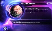 Planet Yerek Mission screen