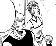 Lucia hides behind his mom