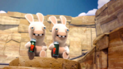 Rabbids Invasion Two Rabbids drinking Pepper Juice