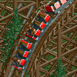 Wooden Roller Coaster (6 seater) RCT2 Icon