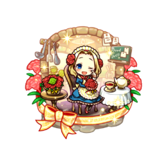Felicia (Meal of Mother Heart) as a Demon Child's Holy Mother in the mobile game