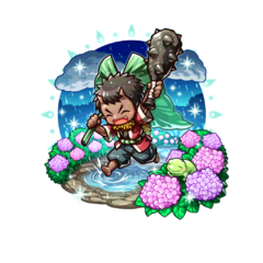 Oniwaka (Child in the Rain) as a High Ogre in the mobile game