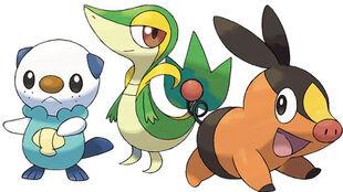 Pokemon black and white starter