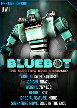 Blue bot card