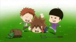 Loser Tsuna being bullied