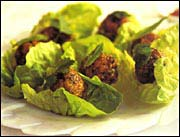Moroccan Lettuce-Wrapped Meatballs