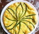 Spring Frittata with Morels, Grilled Asparagus and Grilled Scallions