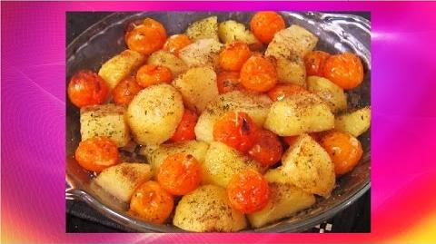 Grilled Cherry Tomatoes and Potatoes With Olive Oil Salad Recipe