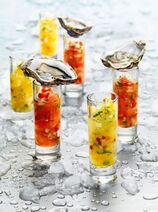Vodka oyster shooters