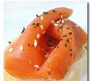 Gumleaf-scented Smoked Salmon Bruschetta