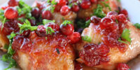 Tangy Cranberry Chicken with Squash and Rice