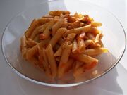 Penne Arabiatta (Pasta with a Spicy Sauce)