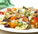 Pasta with Tomatoes and Basil and Olives