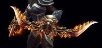 Demon Horns Model Close