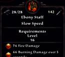 Ebony Staff