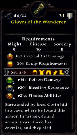 Gloves of the Wanderer Inventory
