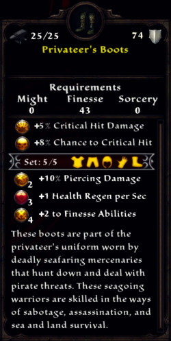 Privateer's Boots Inventory