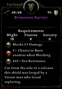 BRIMSTONE BARRIER DESCRIPTION