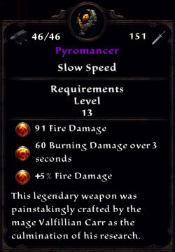 Pyromancer Inventory