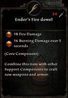 Enders fire dowel