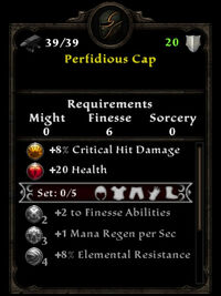 Perfidious cap stats