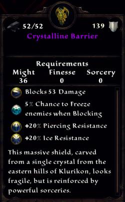 Crystalline Barrier Inventory