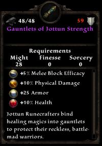 Gauntlets of jottun strength