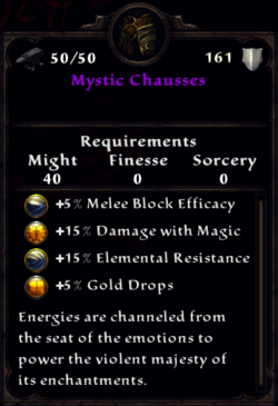 Mystic Chausses Inventory