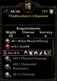 Vindication's Chausses