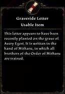 Graveside Letter