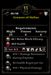 Greaves of helius